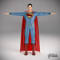 3d superman 2013 man model