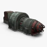 old generator 3d model