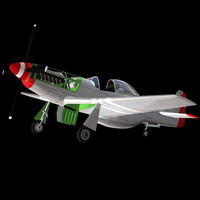 3ds max p51 fighter plane