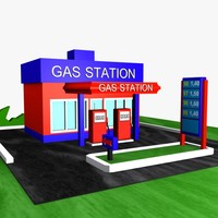 Cartoon Gas Station 1