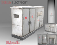 energy electricity 3d model
