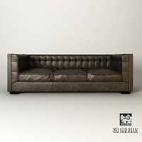 maya armstrong leather sofa