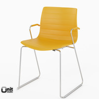 Catifa 46 Leather Technical Sled Chair by Arper