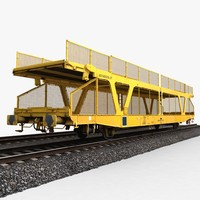 3d model car transporter wagon 1