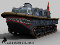 3ds max amphibious tank