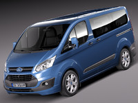 3d 3ds transit passenger van mini bus