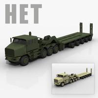 3d model het tank transporter