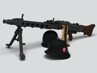 machine gun mg42 3d model