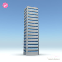 3d model skyscraper 12 day night