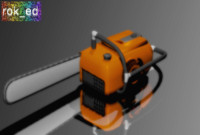 chainsaw saw chain 3d obj