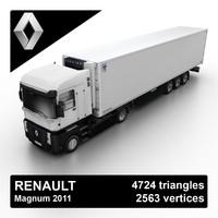2011 renault magnum truck 3d model