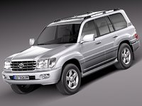 3d model toyota land cruiser j100