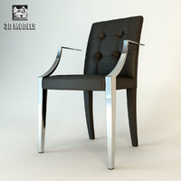 3d model monseigneur chair armchair