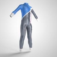 surfer swimer uniform 3d 3ds