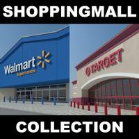 shopping target walmart centere 3d max
