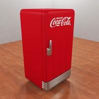 3d coca-cola refrigerator