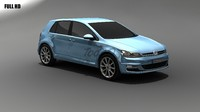 golf mkvii 3d model