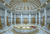 3d bath bathroom hamam model