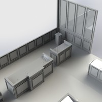 3d furniture courtroom model