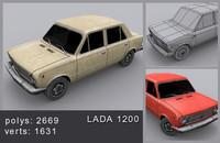 3d model lada car