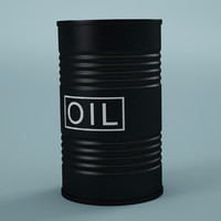 oil barrel 3d max