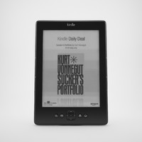3d realistic amazon kindle 5 model