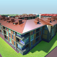 3d residential area model
