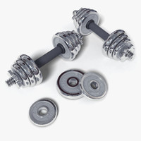 3d model dumbbell weights exercise
