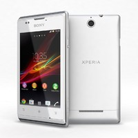 3d model sony xperia e white