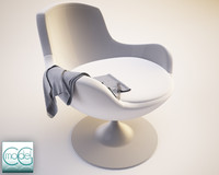 3d model of scarf armchair