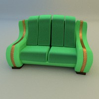 3d soft couch model