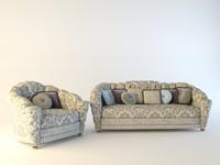 armchair sofa misuro salotti obj
