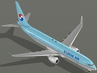 boeing 737-900 er korean 3d model