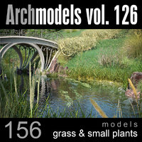 archmodels vol 126 grass 3d model