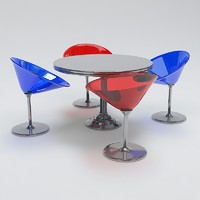 3d modern table chair set