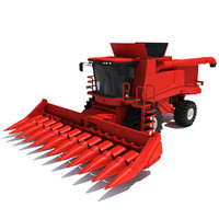 harvester tractor machine 3ds