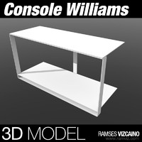 3d model console williams