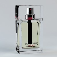 3d model perfume dior homme sport