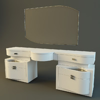 modern dressing table rubino 3d model