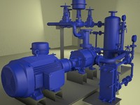 3ds max water pumping