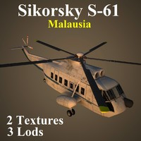 sikorsky wte helicopter 3d model