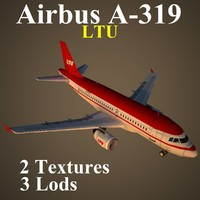 3d model airbus ltu