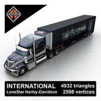 2013 international lonestar harley-davidson 3d max