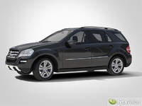 mercedes benz m-class suv 3d model