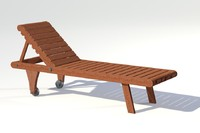 Teak Pool Lounger