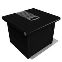 storage bin 3d obj