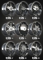 free rims tis alloys packs 3d model
