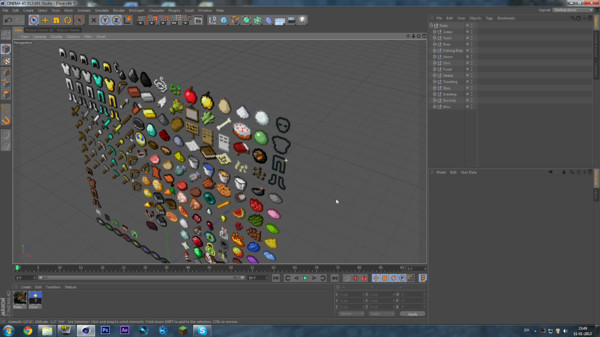items 1 5 c4d - Minecraft Items 1.5.0... by BYKjaer
