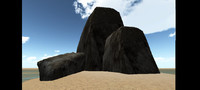 rock nature simple 3d fbx