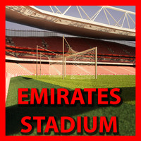 arsenal emirates stadium soccer 3d model